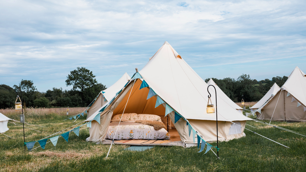 shambala are bell tents allowed
